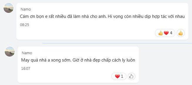 Lời cảm ơn rất chân thành của youtuber Hoàng Nam cho đội ngũ nhân sự thiết kế thi công căn hộ của anh ấy.