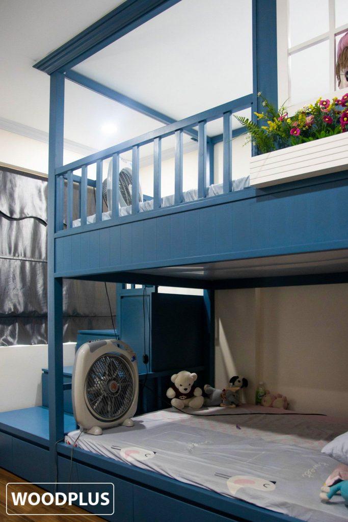 Giường tầng xinh tươi  phòng ngủ bé gái căn hộ anh Minh Ánh
