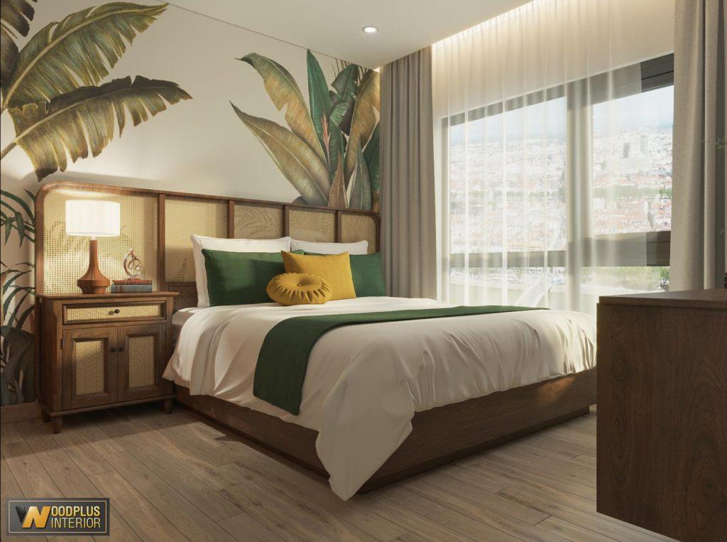 Phòng ngủ đẹp, tràn ngập ánh sáng tự nhiên nên rất tốt cho sức khỏe
