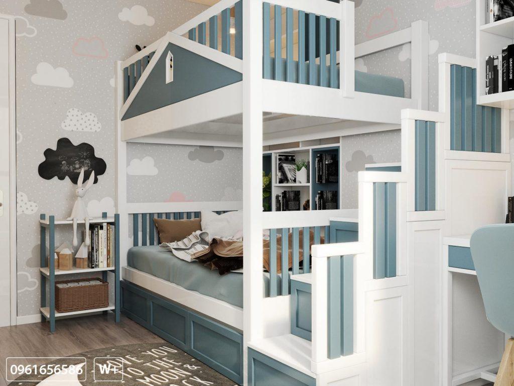 Giường tầng xinh tươi cho con khôn lớn mỗi ngày