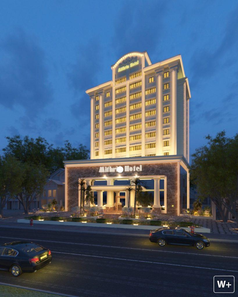 Mithrin Hotel về đêm - lung linh và sắc mầu