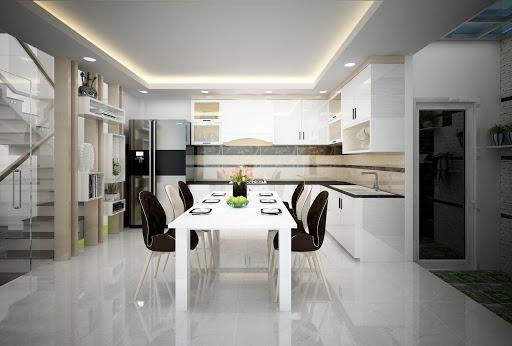interior design phòng bếp đơn giản, sang trọng