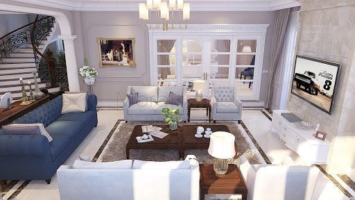 Mẫu thiết kế nội thất phòng khách biệt thự