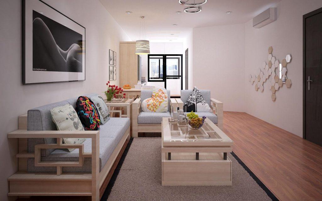 Mẫu thiết kế nội thất phòng khách chung cư