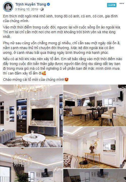 Nhà văn Huyền Trang Bất Hối chia sẻ về căn hộ mới của mình