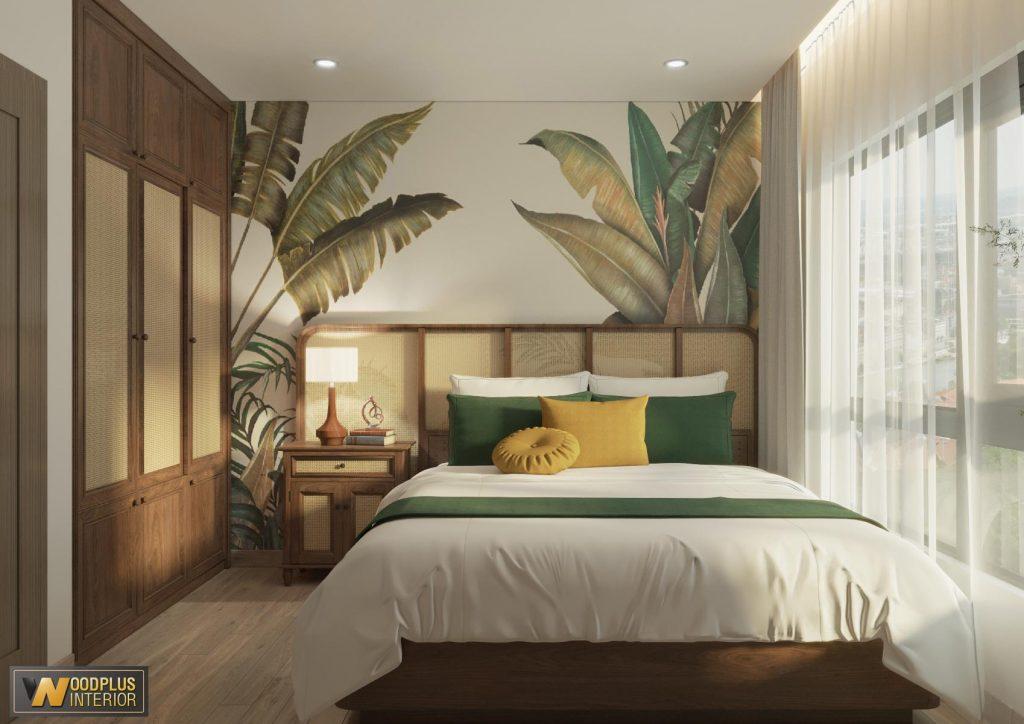 Phòng ngủ master với phong cách nhiệt đới vô cùng cuốn hút