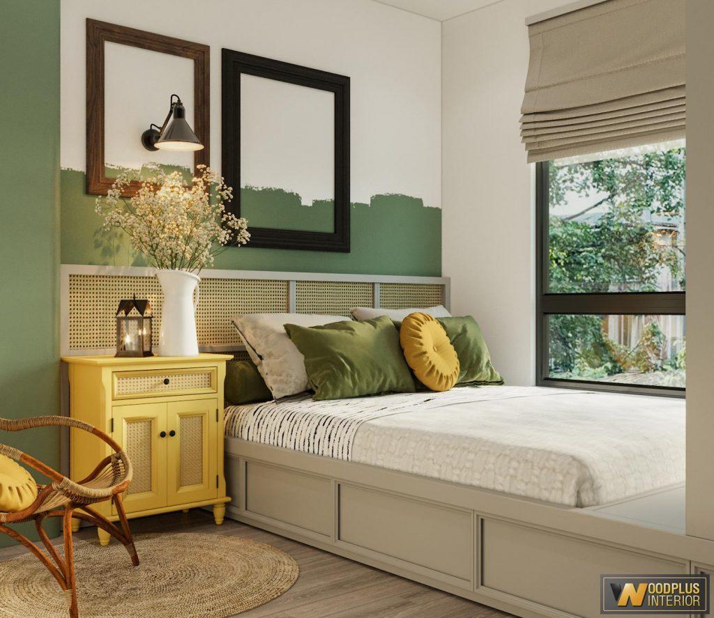 Phòng ngủ nhỏ luôn ngập tràn ánh sáng tự nhiên