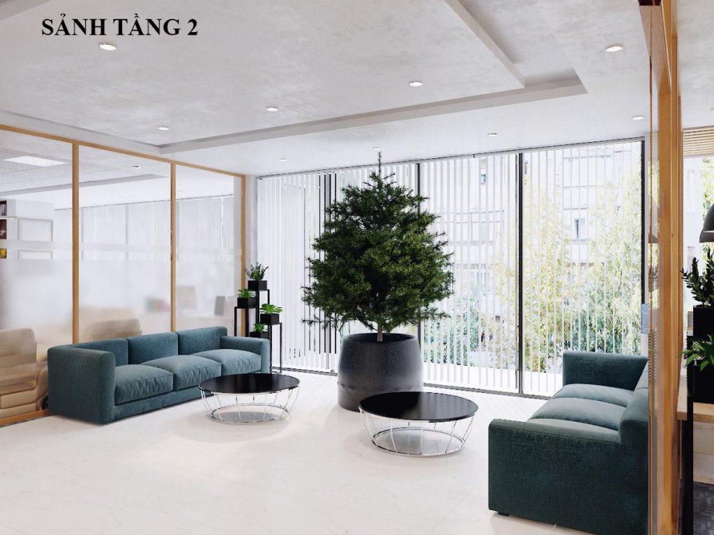 Sảnh tầng 2 văn phòng công ty Toàn Cầu