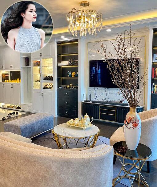 Thiết kế thi công nội thất chung cư Imperia nhà văn Huyền Trang Bất Hối nhà đẹp WoodPlus