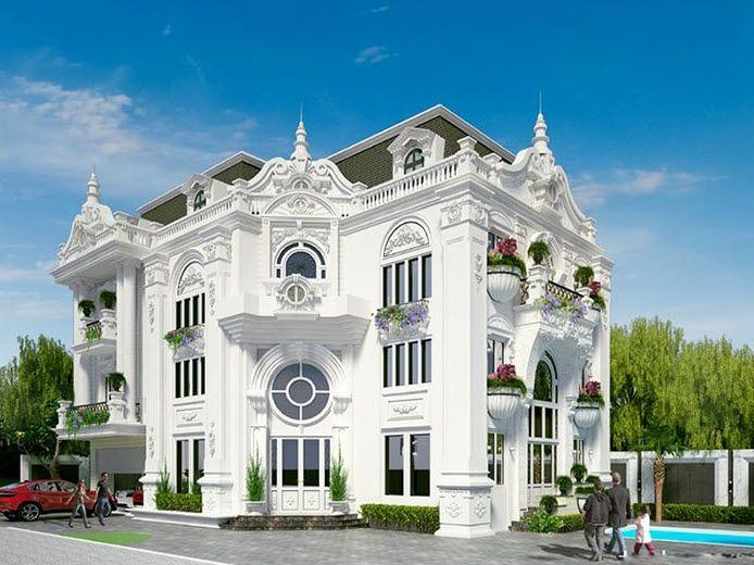 Thiết kế biệt thự kiểu Pháp - biệt thự kiểu cổ điển đẳng cấp