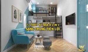 Thiết kế nhà ở 2 trong 2 sang trọng tiện lợi
