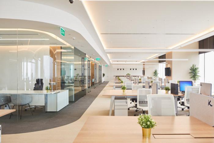 Khu vực nhân viên làm việc được thiết kế khoa học
