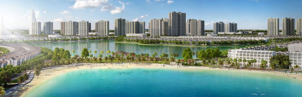 Toàn cảnh thành phố Biển Hồ Vinhome Ocean Park Gia Lâm
