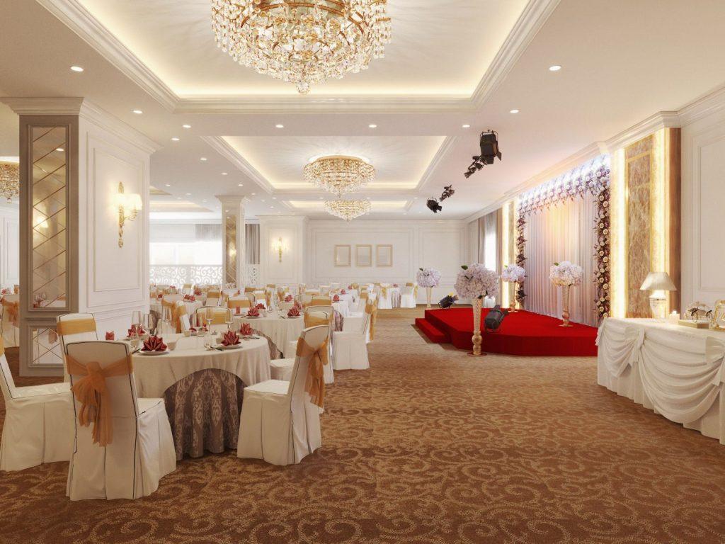 Trung tâm hội nghị tiệc cưới vô cùng hoành tráng và lộng lẫy