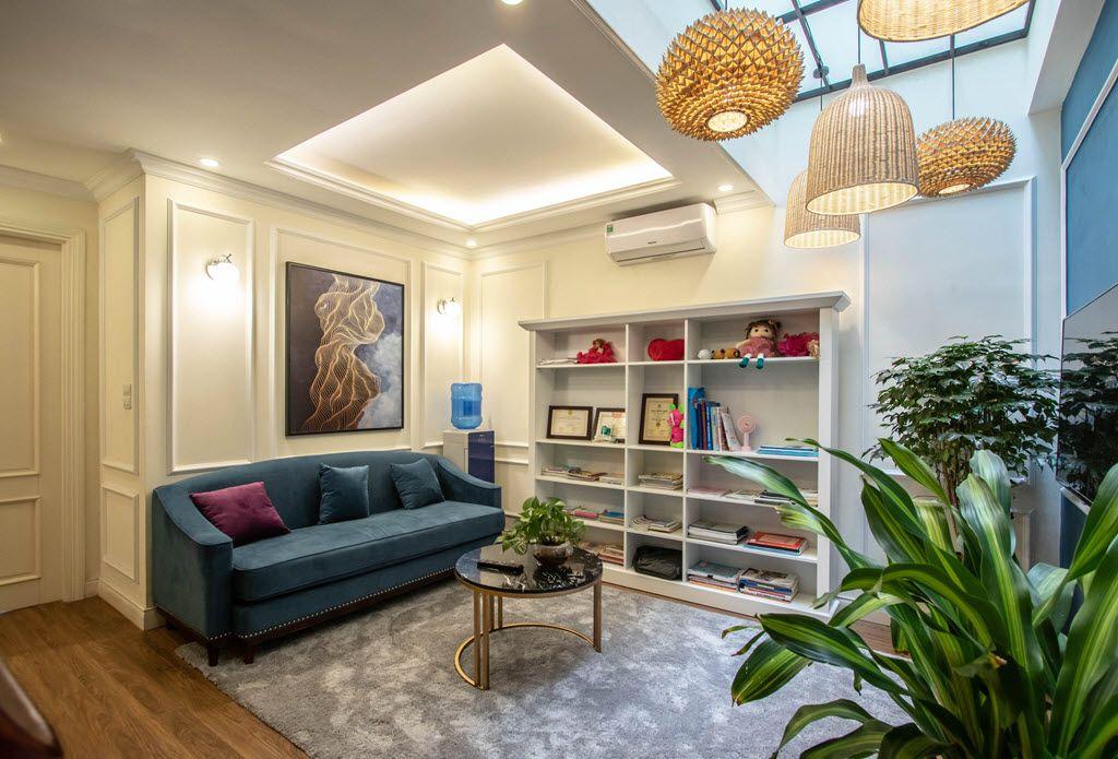 Không gian phòng đọc sách đẹp shop house chị Huyền Thảo Nguyên EcoPark
