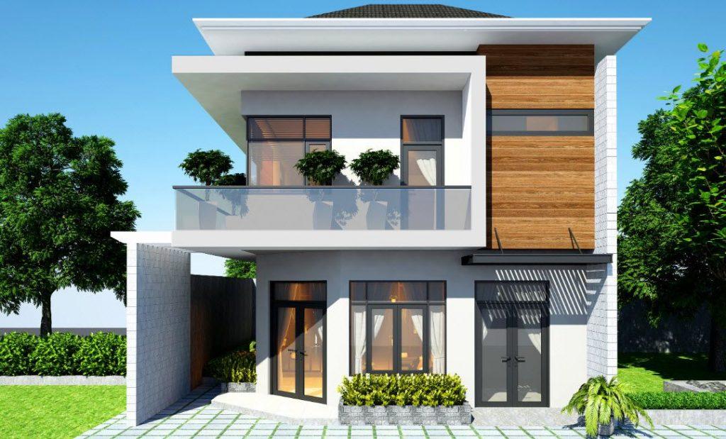 Thiết kế nhà phố 2 tầng hiện đại sang trọng