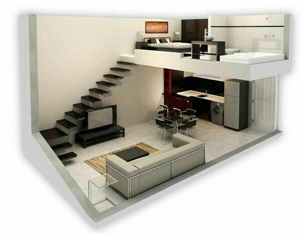 Mô hình cắt dọc ngôi nhà