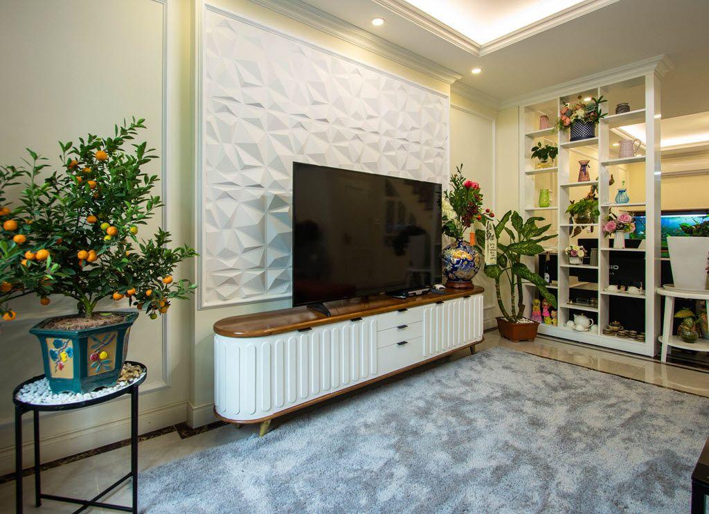 Một góc không gian giải trí tại phòng khách gia đình chị Huyền EcoPark