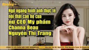 Ngỡ ngàng nội thất căn hộ ceo mỹ phẩm channa beau Nguyễn Thị Trang