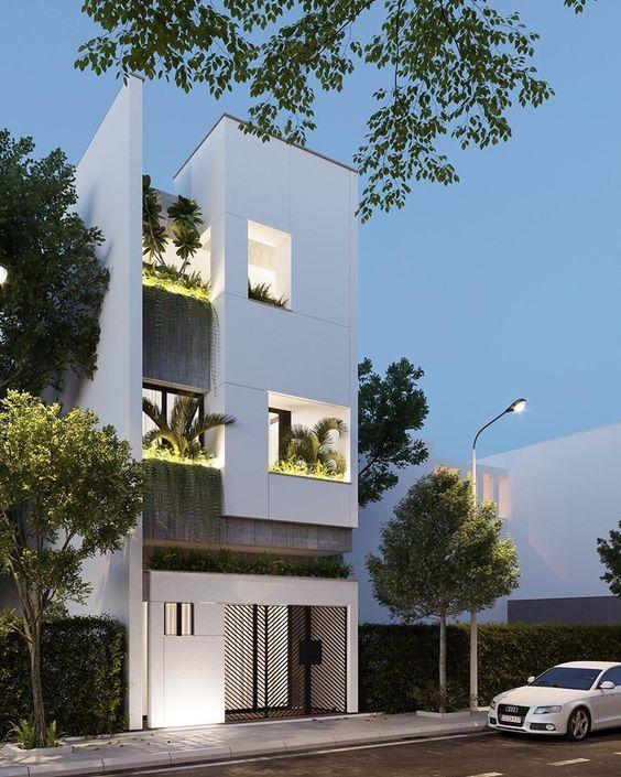 Mẫu nhà lầu đẹp kiểu nhà phố hiện đại
