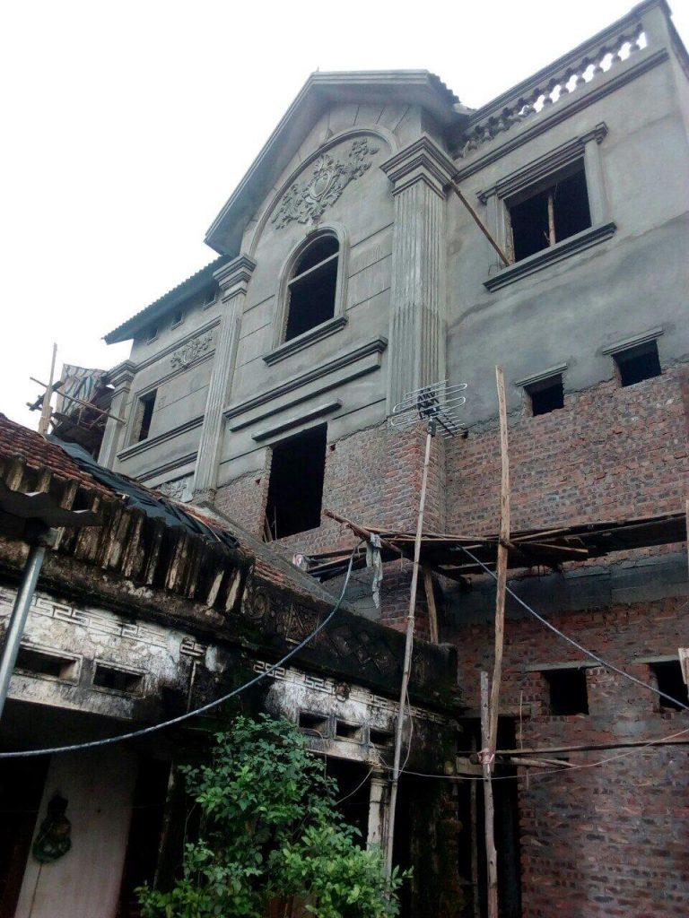 Thi công xây dựng mặt ngoài căn nhà anh Vịnh Phú Thọ