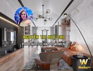 WoodPlus thiết kế thi công căn hộ phó chủ tịch Happy Women Nguyễn Thị Huệ Chi