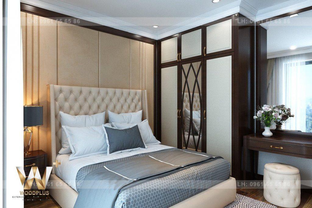 Thiết kế kiến trúc phòng ngủ Master gia đình anh Vịnh PT