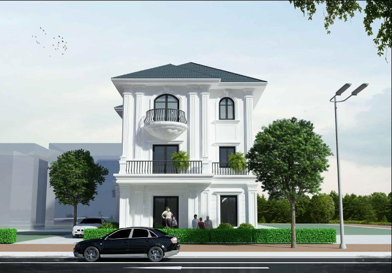 Thiết kế kiến trúc biệt thự gia đình chị Hậu tại thành phố Bắc Ninh