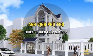 Thiết kế kiến trúc nhà đẹp gia đình anh Vịnh Phú Thọ