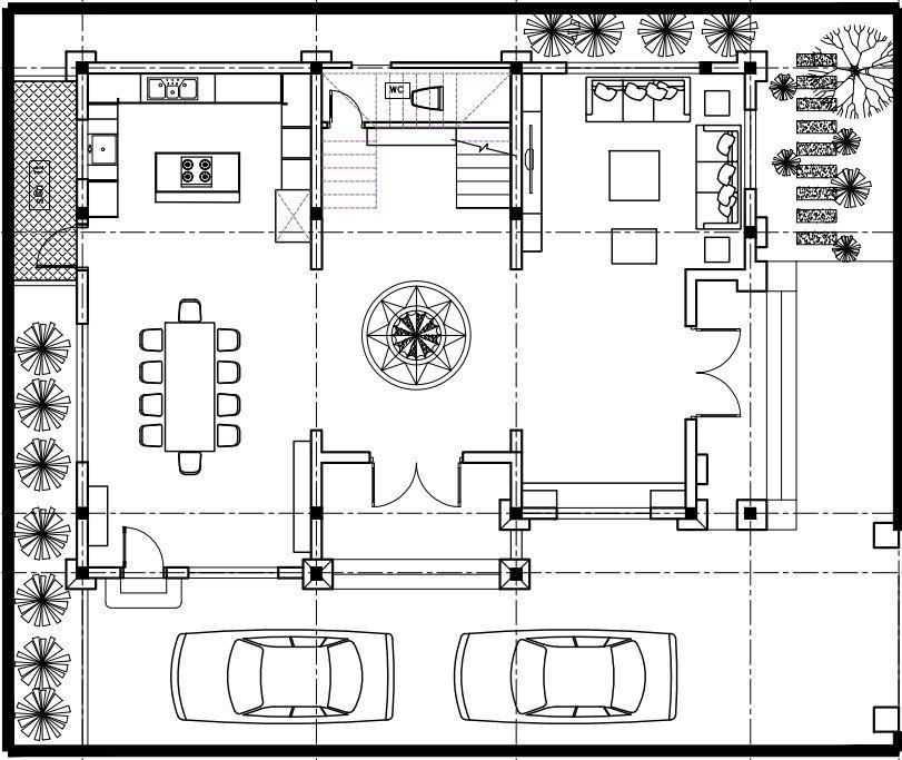 Không gian kiến trúc nội thất tầng 1 gia đình chị Hậu thành phố Bắc Ninh