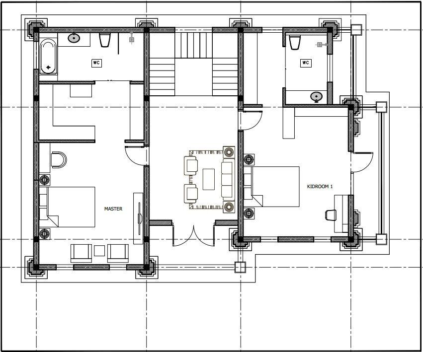 Không gian kiến trúc tầng 2 gia đình chị Hậu Bắc Ninh