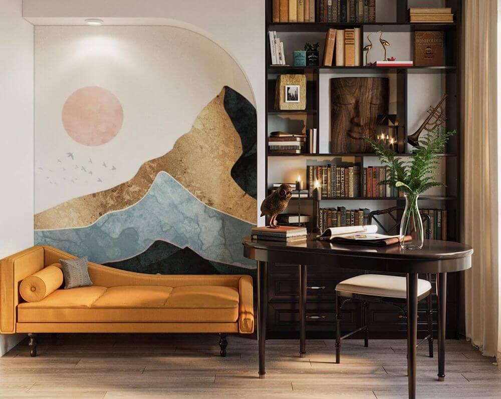 Thiết kế nội thất phòng đọc sách đẹp tinh tế Nhà Đẹp WoodPlus