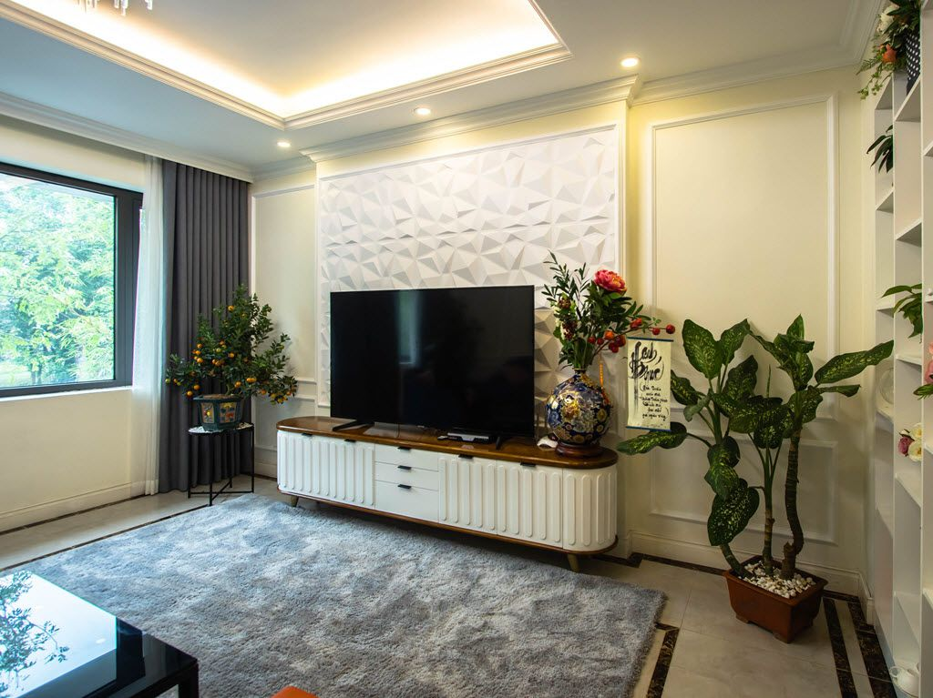 Thiết kế không gian ti vi trong phòng khách