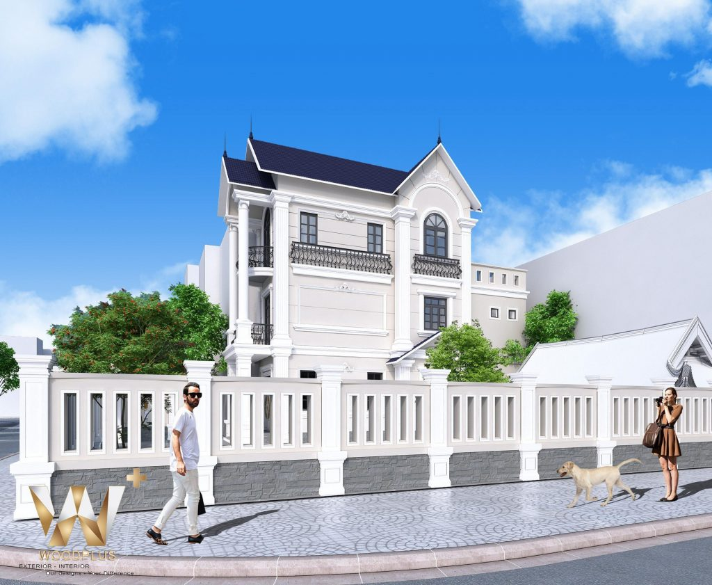 Mặt cạnh ngôi nhà 3 tầng tại gia đình anh Vịnh Phú Thọ