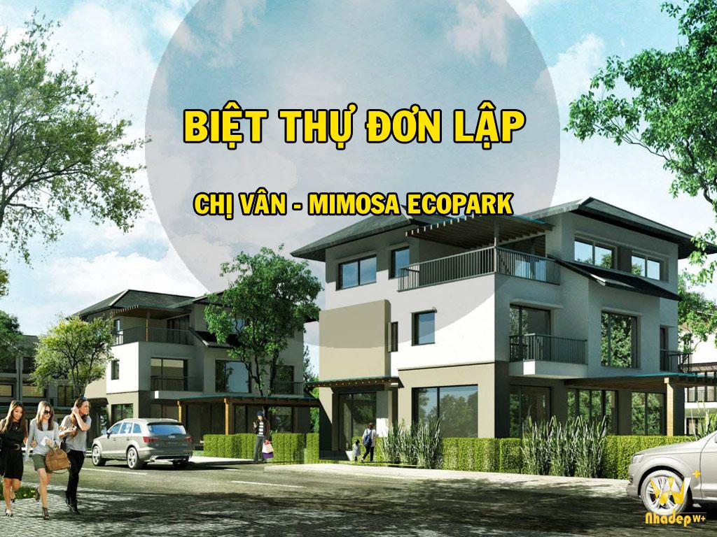 Thiết kế nội thất biệt thự đơn lập chị Vân KĐT Mimosa EcoPark