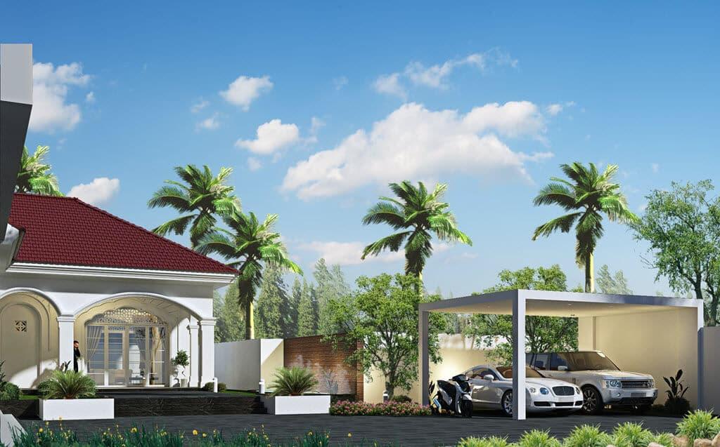 Thiết kế kiến trúc nội thất Nhà Vườn chị Hương tại thị trấn Phùng - Đan Phượng
