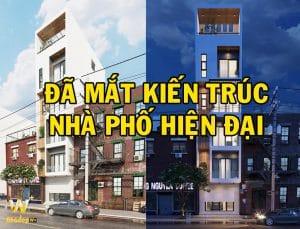 Thiết kế kiến trúc nhà phố hiện đại gia đình anh Trung Vạn Phúc