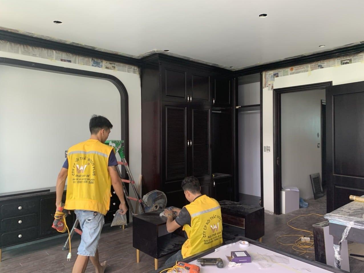 Thiết kế kiến trúc nội thất - thi công nội thất Ecopark Hải Dương - Lắp đặt tủ