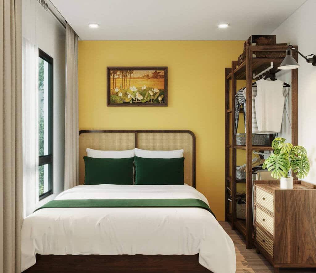 Thiết kế nội thất chung cư Vinhome Ocean Park phong cách Indochine kết hợp tropical chị Emly Nguyễn