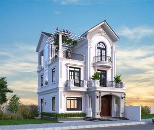 Thiết kế kiến trúc nội thất biệt thự phong cách Indochine Đông Dương tinh tế gia đình chị Hiền La Phù