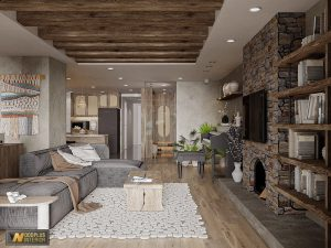 Thiết kế nội thất phong cách Wabi Sabi mộc mạc thô vụng đậm chất thiền trong căn hộ 180m2